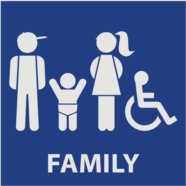 Restroom Signs K Family Handicap